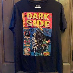 Star Wars dark side graphic comic Tshirt large